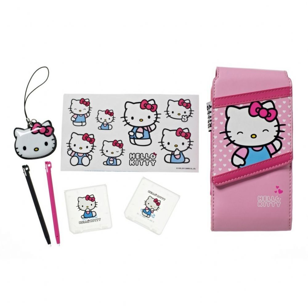 Hello Kitty Pink Accessory Kit Travel Pack For 3ds Dsi